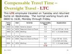 compensable travel time overnight travel ltc2
