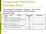 compensable travel time overnight travel1