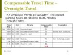 compensable travel time overnight travel2