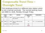 compensable travel time overnight travel5