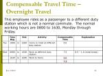 compensable travel time overnight travel6