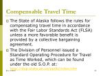 compensable travel time