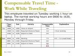 compensable travel time work while traveling1