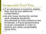 compensable travel time1