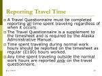 reporting travel time