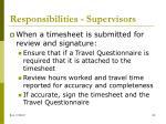 responsibilities supervisors