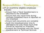 responsibilities timekeepers
