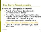 the travel questionnaire6
