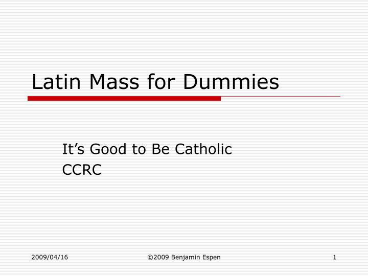 latin mass for dummies n.