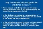 may these three factors explain the incidence increase