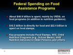 federal spending on food assistance programs