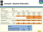 example baseline estimation
