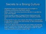 secrets to a strong culture1