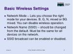 basic wireless settings