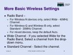 more basic wireless settings