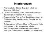 interferenzen