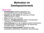 motivation im zweitspracherwerb
