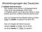 wortstellungsregeln des deutschen2