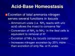acid base homeostasis1
