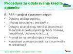 procedura za odobravanje kredita op enito3