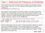 task 1 determine the frequency of the board
