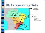 iii des dynamiques spatiales