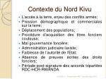 contexte du nord kivu
