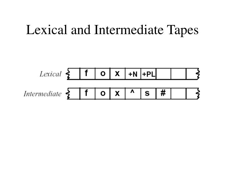 Lexical and Intermediate Tapes