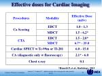 effective doses for cardiac imaging