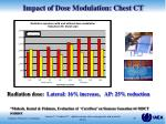 impact of dose modulation chest ct