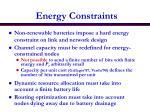 energy constraints