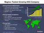 magma fastest growing eda company