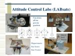 attitude control labs labsats