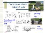 communications links gain