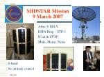 midstar mission 9 march 2007