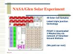 nasa glen solar experiment
