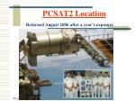 pcsat2 location