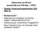 zulassung von noven ausserhalb von 229 abs 1 zpo
