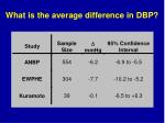 what is the average difference in dbp