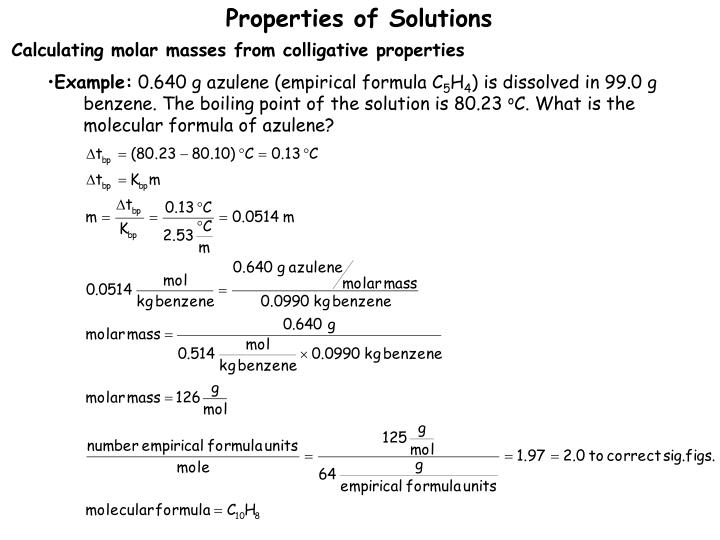Ppt Colligative Properties Of Solutions Powerpoint Presentation