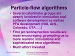 particle flow algorithms