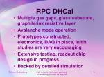 rpc dhcal