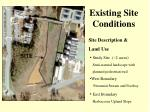 existing site conditions