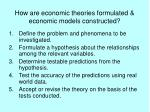 how are economic theories formulated economic models constructed