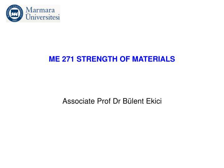 me 271 strength of materials n.