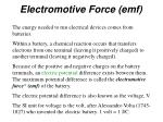 electromotive force emf