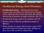 geothermal energy from volcanoes
