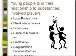 young people and their relationship to substances involved players