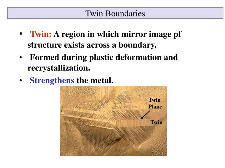 Twin Boundaries