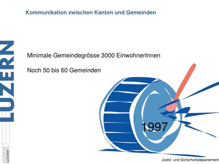 Kommunikation zwischen kanton und gemeinden
